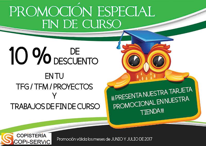 Promoción junio-julio copistería Copi-Servic Jaén