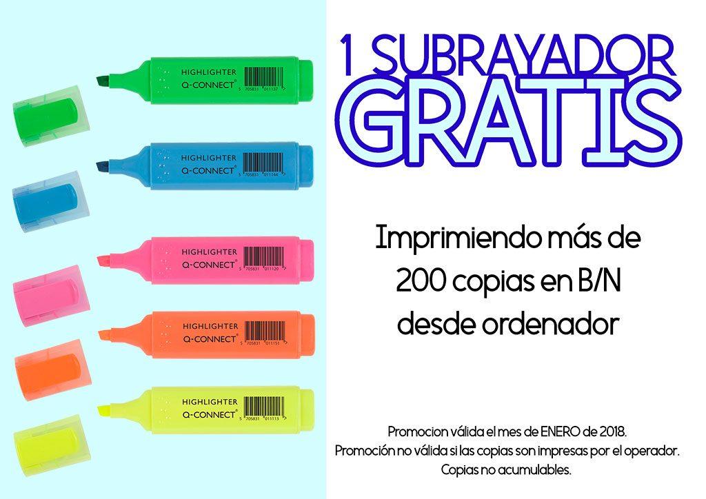 Promoción subrayador GRATIS en Copi-Servic