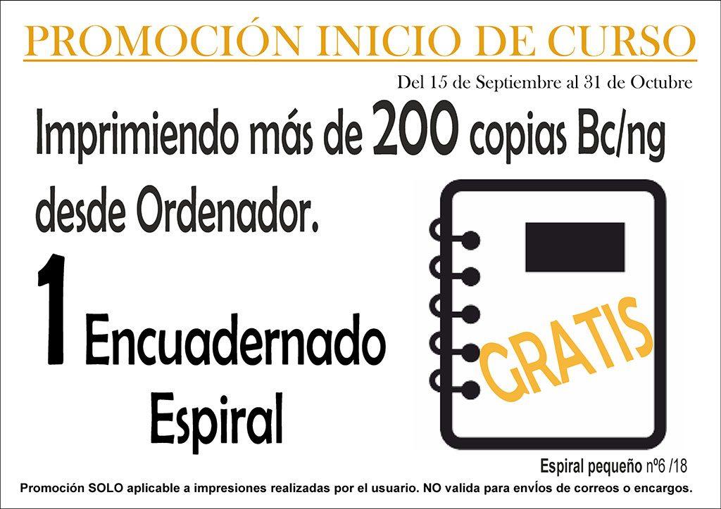 Encuadernación GRATIS promoción inicio de curso copistería Copi-Servic