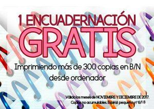 ENCUADERNACIÓN GRATIS promoción noviembre-diciembre 2017 Copistería Copi-Servic
